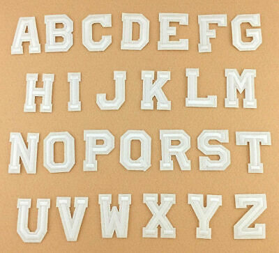 White Alphabet Letter Patch Embroidered Sew Iron on Badge Patches Applique new S