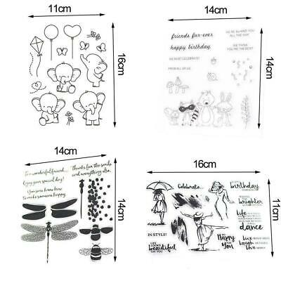 Silicone Clear Rubber Stamp Sheet Cling Transparent Scrapbooking Die Mold DIY Ne