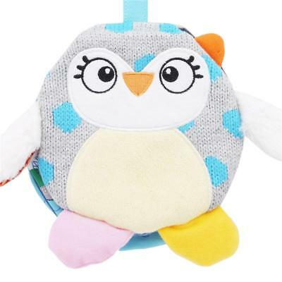 Goodnight Books Stroller Rattle Toy Soft Owl Book Baby Learning Educational FW