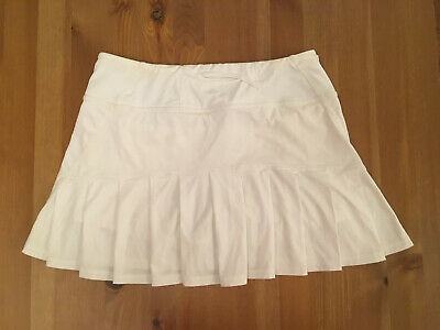 White Lululemon Tennis Running Skirt Shorts Size 2