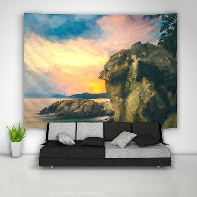 Rock Waters Tapestry Art Wall Hanging Sofa Table Bed Cover Home Decor