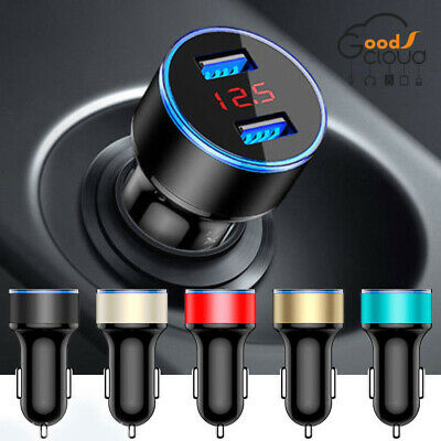 Car Charger LED Dual USB Mini Fast Charge For iPhone Samsung Huawei Smart Phone
