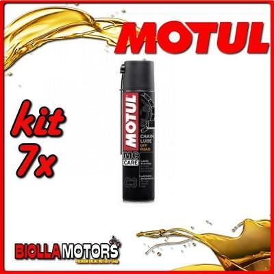 KIT 7X 400ML SPRAY PER CATENE MOTUL C3 CHAIN LUBE OFF ROAD 400ML - 7x 102982