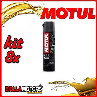 KIT 8X 400ML SPRAY PER CATENE MOTUL C3 CHAIN LUBE OFF ROAD 400ML - 8x 102982