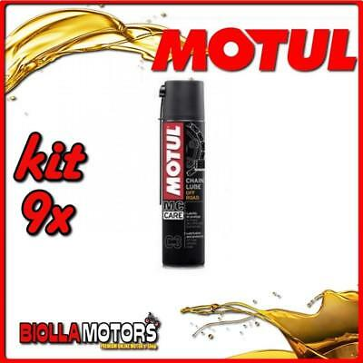 KIT 9X 400ML SPRAY PER CATENE MOTUL C3 CHAIN LUBE OFF ROAD 400ML - 9x 102982