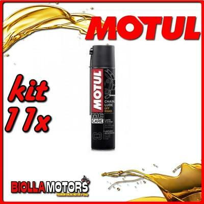 KIT 11X 400ML SPRAY PER CATENE MOTUL C3 CHAIN LUBE OFF ROAD 400ML - 11x 102982