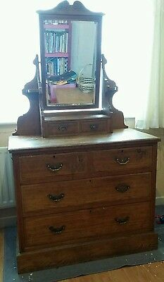 Antique pine/oak dressing table around  110 years old