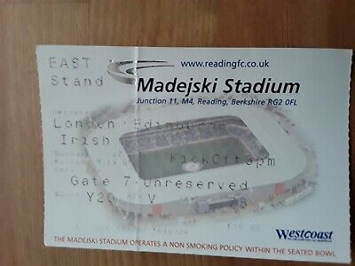 RUGBY UNION MATCH TICKET - LONDON IRISH v EDINBURGH HEINEKEN CUP 2002