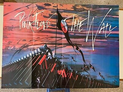 "PINK FLOYD,THE WALL, BY GERALD SCARFE, RARE REPRODUCTION XL 49,5"" x 36"" POSTER"