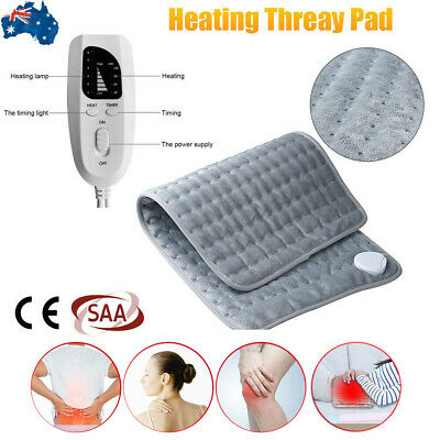 Electric Heating Pad Heat Therapy Fast Neck/Shoulder/Back Pain Relief Auto Off
