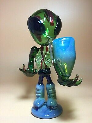 Color Alien tobacco pipes multi swirl glass smoking pipes glass pipes hookahs
