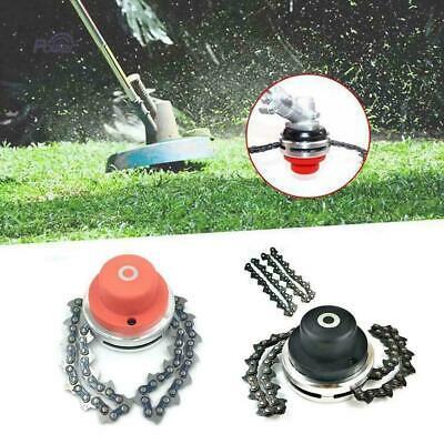 2 Types 65Mn Trimmer Head Coil Chain Brush Cutter Trimmer Grass For-Lawn