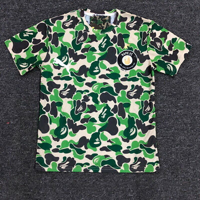 BAPE summer men's joint short-sleeved camouflage casual round neck T-shirt