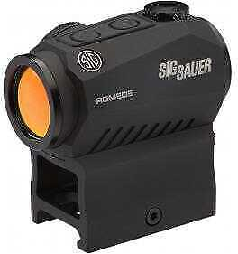 Sig Sauer Romeo5 Compact Red Dot Sight 1X20mm, 2 MOA Red Dot Reticle, Graphite M