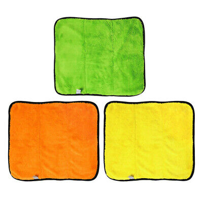 Yellow Orange Car Automobile Microfiber Polishing Cleaning Cloths Plush Towels