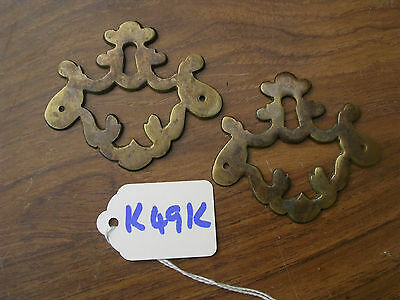 Pair Of Antique Brass Escutcheons