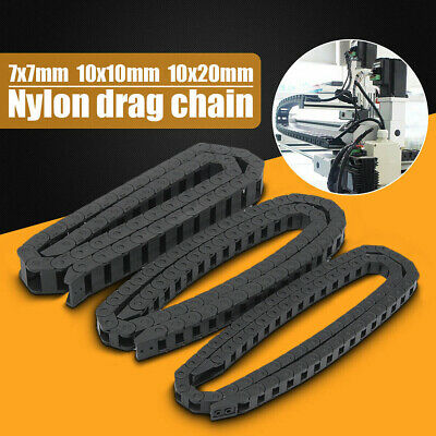 1Pcs Black 3D Printer Nylon Drag Chain Abrasion Resistance 1 Meter for I3Printer
