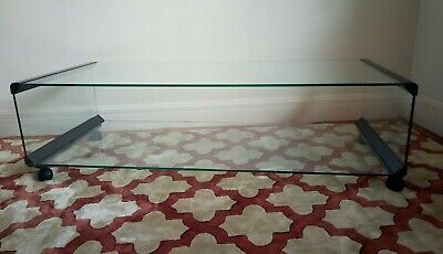 Vintage Gallotti & Radice T33 Large Glass Coffee Table. Collection Margate, Kent