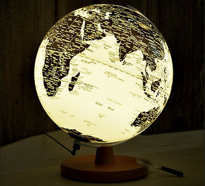 Earth LED Globe World Map Rotating Geography Kids Learning Desktop Decor