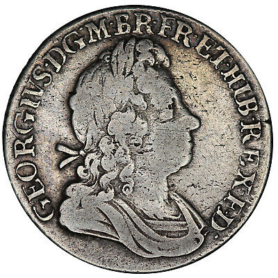 1723 George I shilling Great Britain silver coin