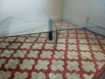Vintage Italian Large Glass Coffee Table. Collection Margate, Kent