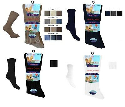 3 X Pairs Mens Non Elastic Loose Top Socks,Can be Use for Diabetic UK Size 11-14