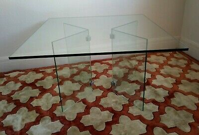 Vintage Dutch Large Glass Coffee Table. Collection Margate, Kent