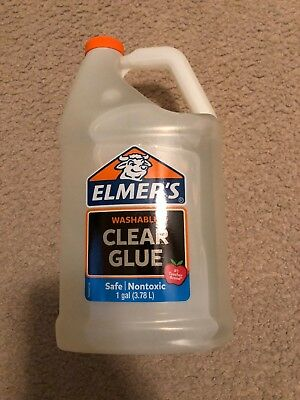 Elmer's Washable Clear School Glue, Gallon, good for making slime