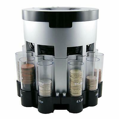 Motorised Coin Sorter Automatic Money Counter UK Coins Sorter Fast Easy To Use