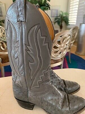 7921f5e881c RUDEL MENS COWBOY Boots Sz 8 EE Brown Leather Stitching Crosses Snip ...