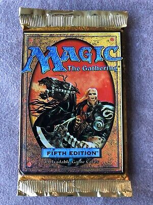 Fifth Edition Booster Pack X 3 MTG FACTORY SEALED (RG) 4RCards