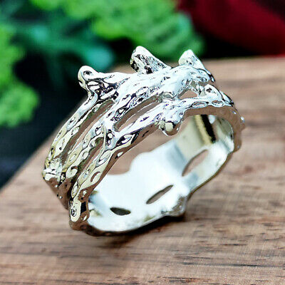 Womens Ring Jewelry Creative Silver Plated Ring Wedding Couple Rings Size 6-10
