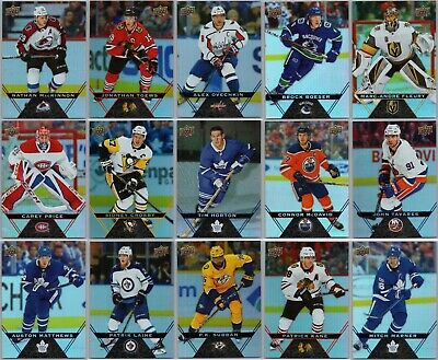 2018-19 UPPER DECK TIM HORTONS COMPLETE 120 CARD BASE SET Lot + Game Day Action