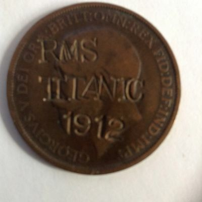 Titanic 1912 Commemoration English One Penny Coin - Must See - So Rare!