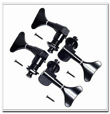 1 Sets 2L2R Sealed Electric Bass guitar Tuners Machine Heads Tuning Pegs Black