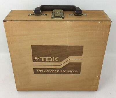 Napa Valley Box Company 20 Cassettes Carry Case with Key  TDK Advertisement Logo