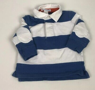 Janie Jack Baby Boy Stripe Blue Rugby Nautical Shirt Top Shirt 3-6 3 6 Months