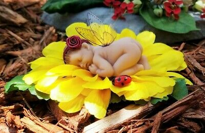 Baby Fairy Cake Topper/Flower Fairy/ Fairy Figurine/ Collectable/Gift