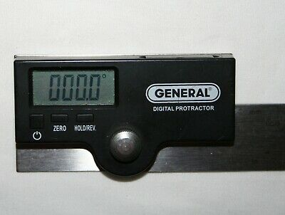 General Tools Precision Digital Protractor Stainless Steel #1702  6""