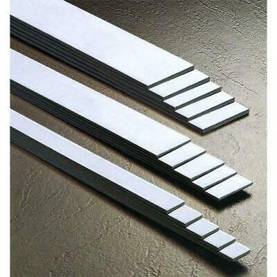 304 Grade Brushed Stainless Steel FLAT BAR - Various Sizes - 1.5mm 2mm Thick