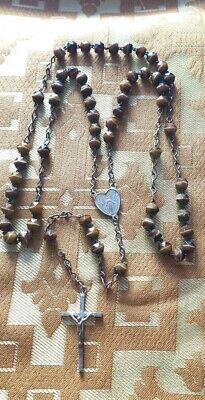 Antique  French  1920's  Glass and Brass Rosary