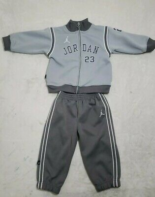 87b6d4a58d Infant Toddler's Boy's 2-Piece Tricot Nike Jordan Tracksuit Set Gray Size  ...