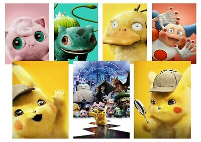 Pokémon Detective: Pikachu, JiggleyPuff  A5 A4 A3 Textless Movie DVD Posters