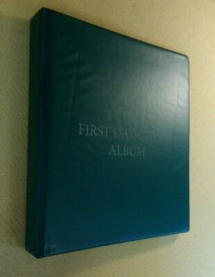 WH Smith First Day Cover Album Green 12 Pages Holds 48 Covers Presentation Packs