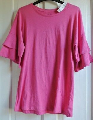 New Gap 100% cotton Girls top Pink  age 12 years