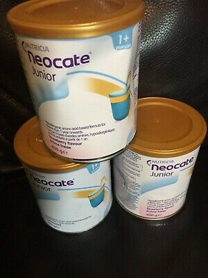 Neocate junior  x 3  TUBS UNFLAVOURED 25TH JULY 2019