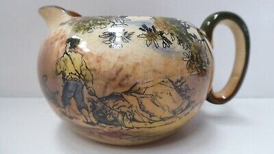 Royal Doulton Old English Scenes  The Gleaners Pottery Jug