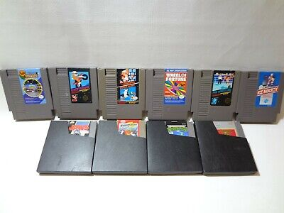 10 GAME LOT NES Nintendo ORIGINAL games SUPER MARIO TMNT Excitebike Jordan Jaws