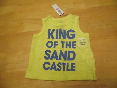 "NWT Old Navy Infant Boy Tank Top ""King of the Sand Castle"" 0-3 months"