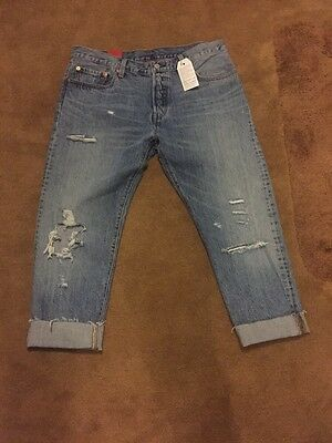 1537b942 Levis 501ct Original Fit Customized&Tapered women cropped3/4length BNWT  RRP£115